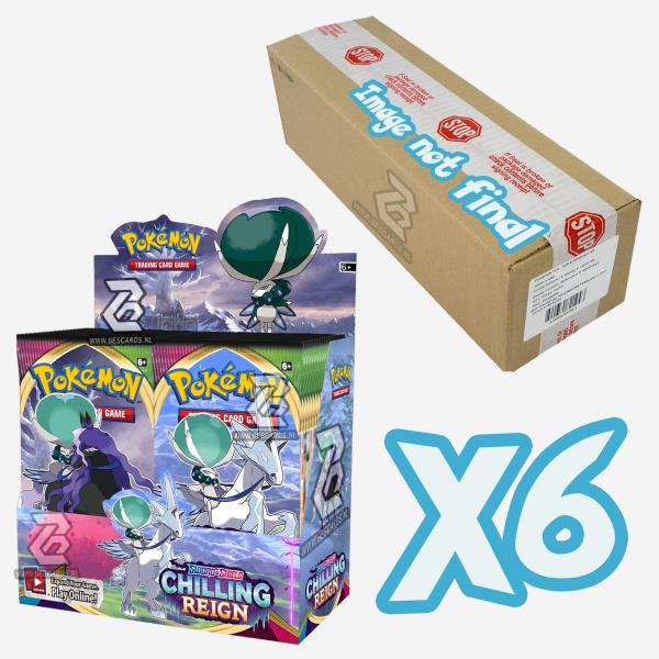 pokemon sword & shield 6 chilling reign booster box case