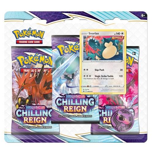 Pokemon Chilling Reign 3 pack blister snorlax