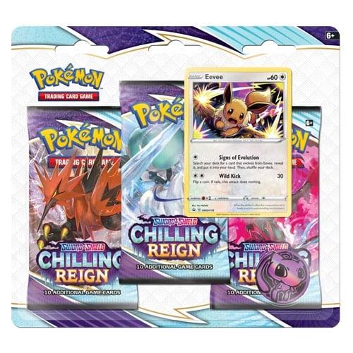 pokemon chilling reign 3-pack blister eevee