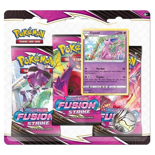 pokemon fusion stike 3-pack blister espeon