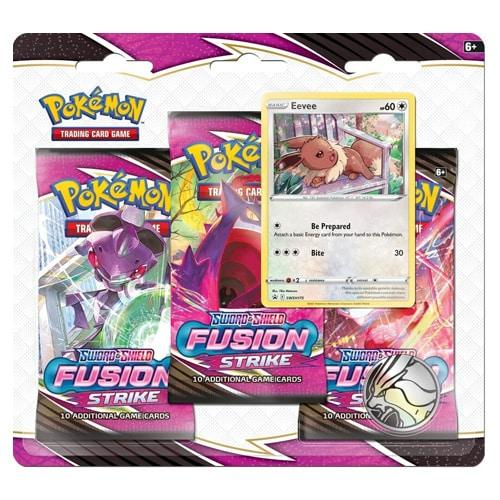 pokemon fusion strike 3-pack blister eevee
