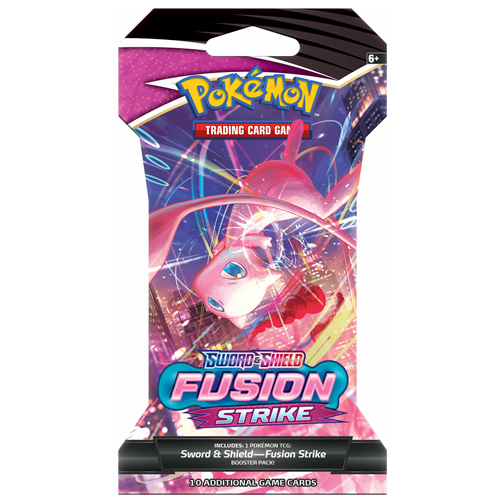 pokemon fusion strike sleeved booster pack - mew